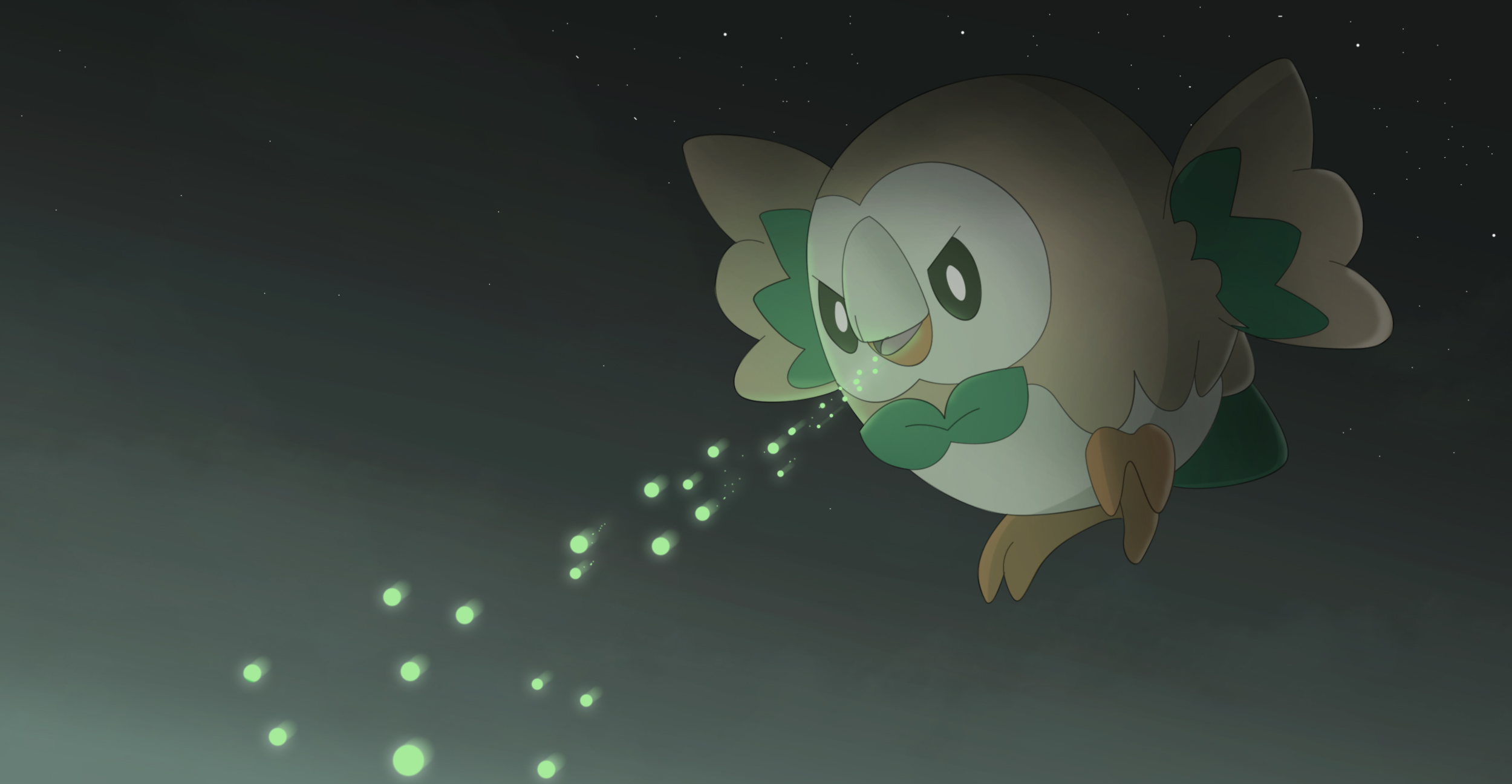 Pokemon Sun And Moon Wallpaper: Rowlet HD Wallpaper