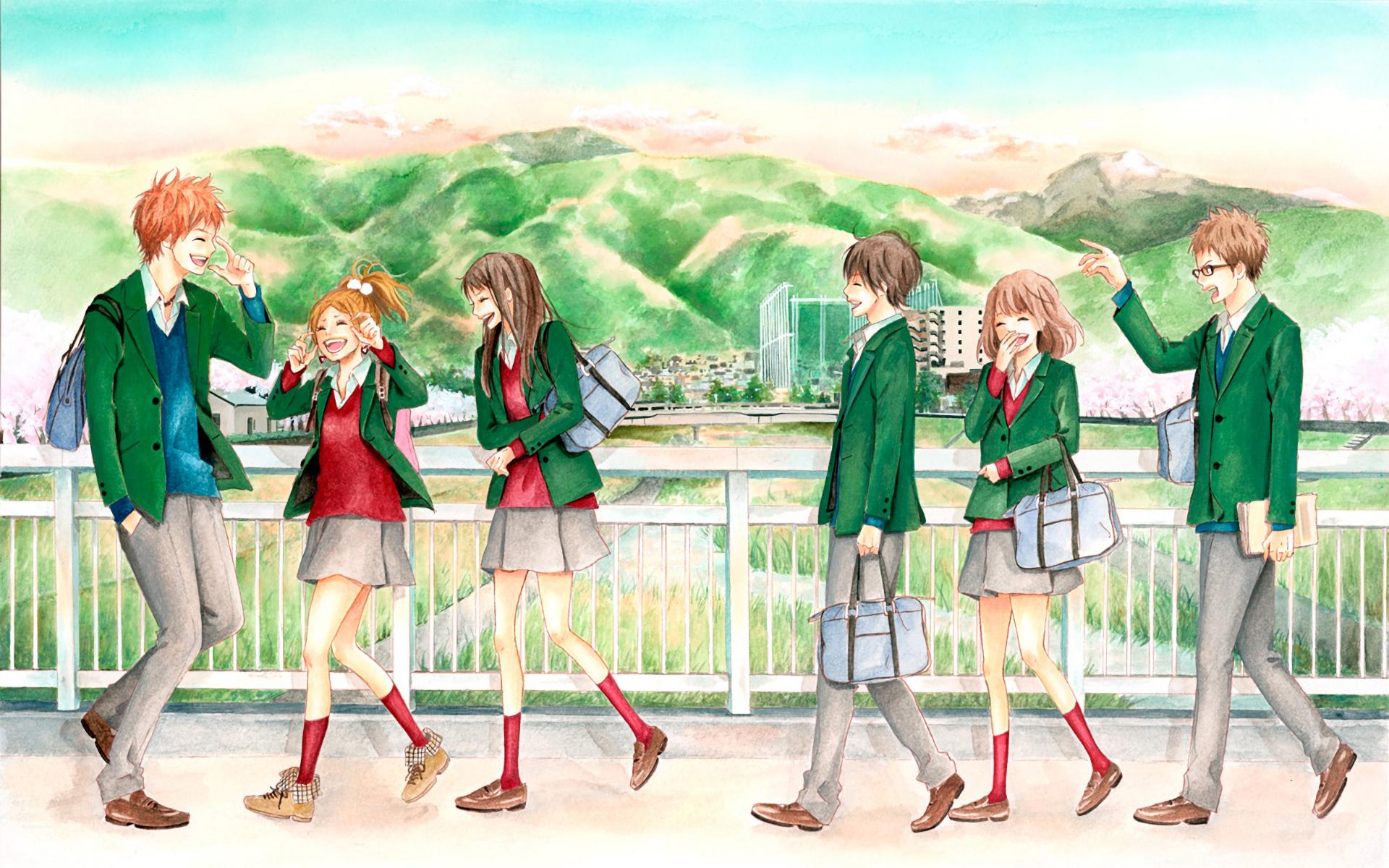 Anime - Orange  Naho Takamiya Kakeru Naruse Takako Chino Saku Hagita Azusa Murasaka Hiroto Suwa Orange (Anime) Fondo de Pantalla