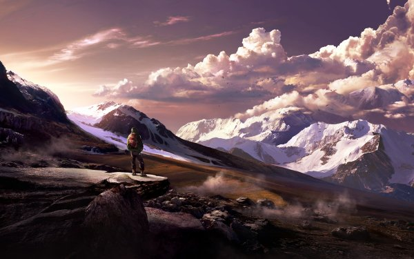 Artistic Mountain Landscape HD Wallpaper | Background Image