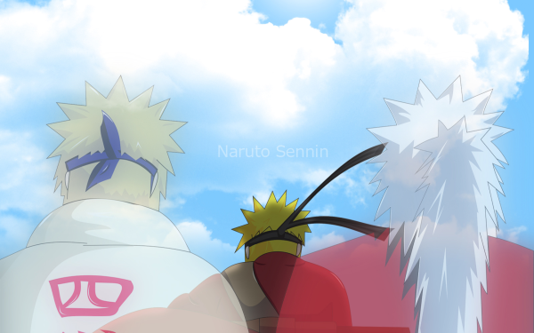 Anime Naruto Naruto Uzumaki Jiraiya Minato Namikaze Fondo de pantalla HD | Fondo de Escritorio