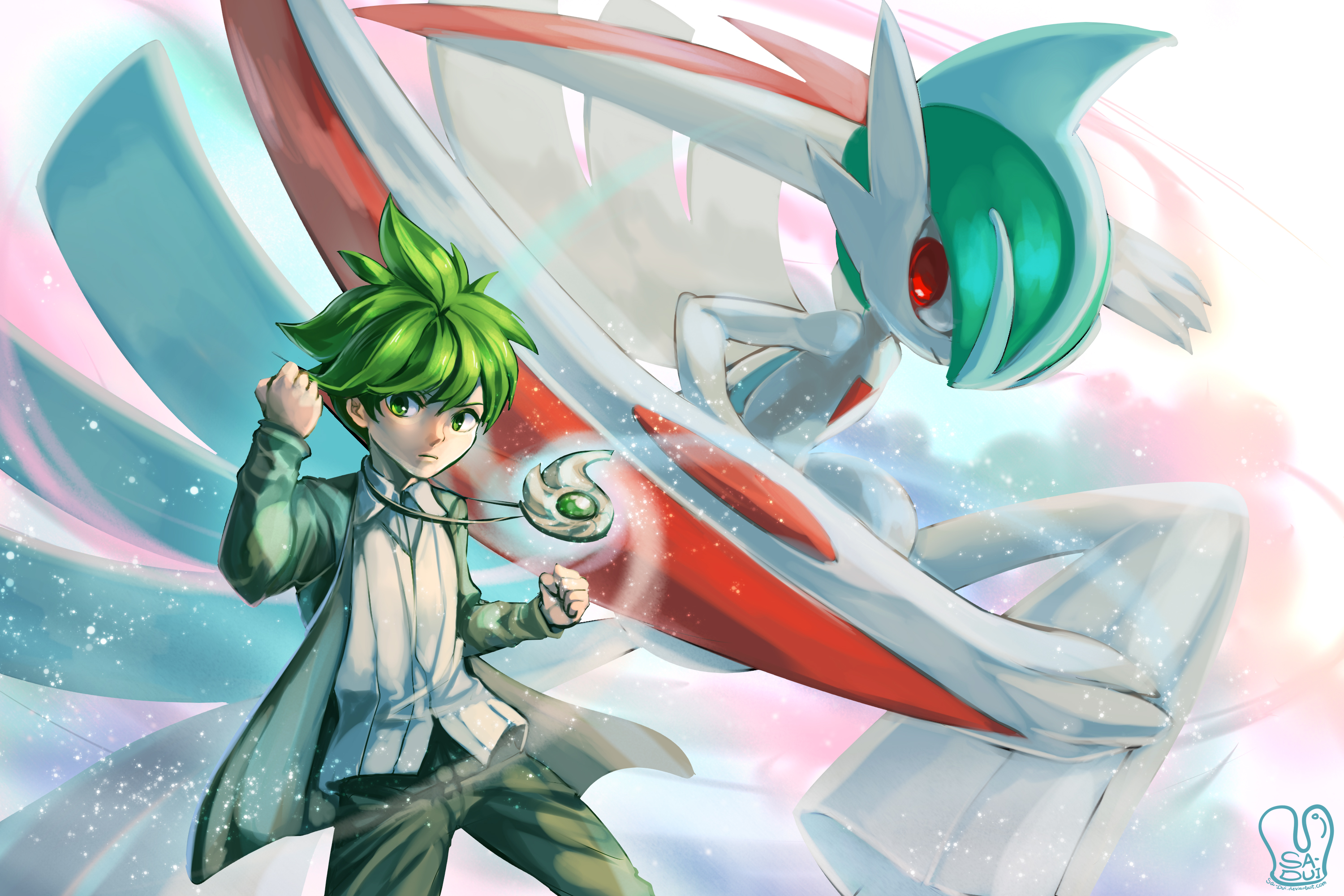 Wally and Mega Gallade HD Wallpaper | Background Image ...