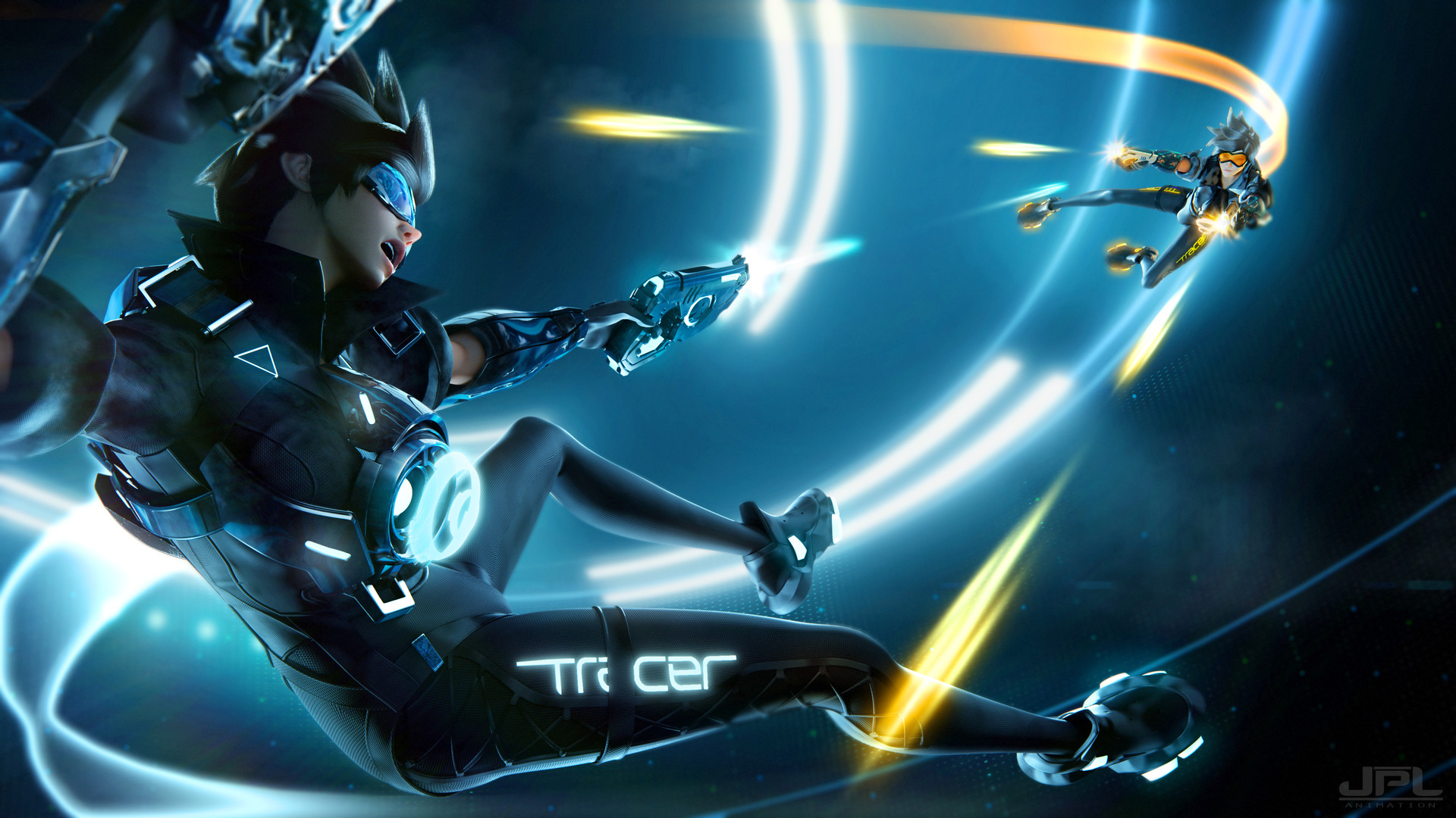 Tracer Tron HD Wallpaper | Background Image | 1920x1080 ...