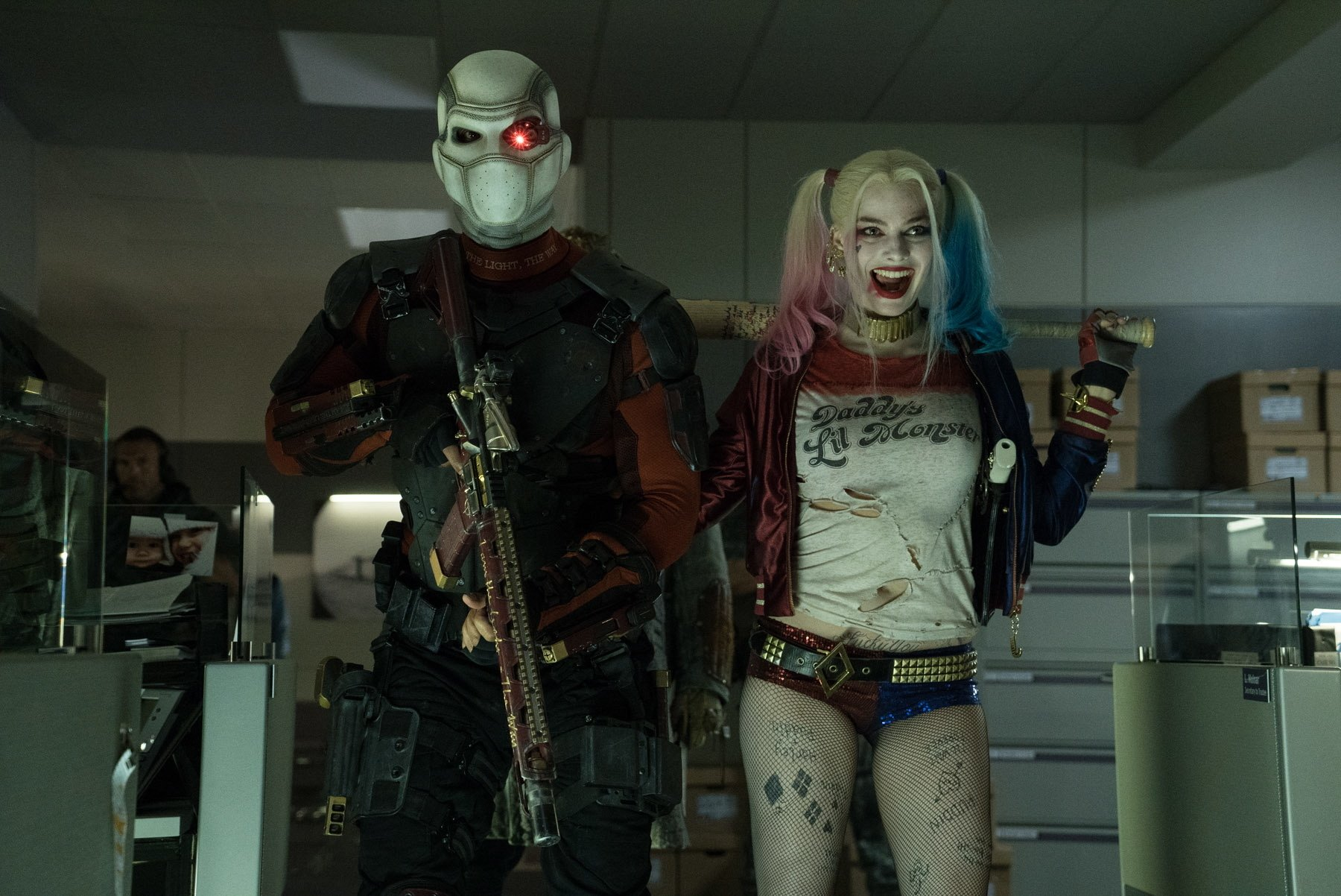 Movie - Suicide Squad  Deadshot Harley Quinn Will Smith Margot Robbie Wallpaper