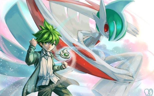 Video Game Pokémon: Omega Ruby and Alpha Sapphire Pokémon Wally Gallade Mega Gallade Boy Green Hair HD Wallpaper | Background Image