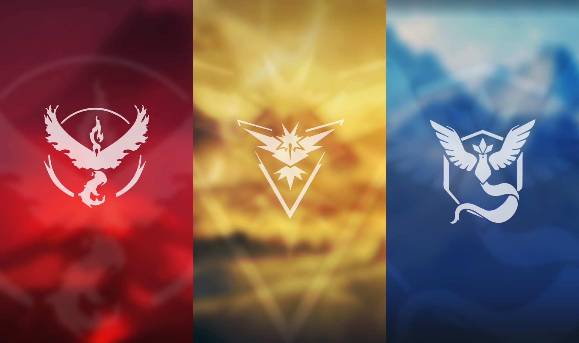 Video Game - Pokémon GO  Pokemon Go Team Valor Team Instinct Team Mystic Wallpaper