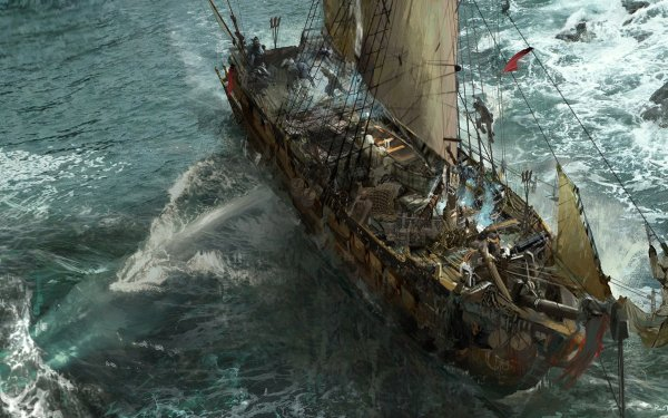 Fantasy Ship HD Wallpaper   Background Image