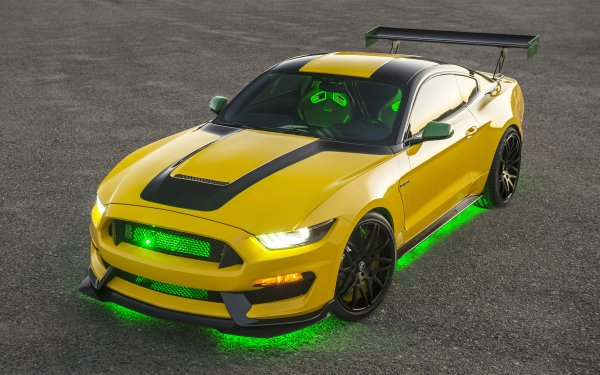 Fahrzeuge Ford Mustang Shelby GT500 Ford Ford Mustang Yellow Car Muscle Car Autos HD Wallpaper | Hintergrund
