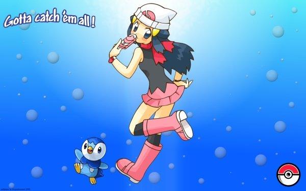 Anime Pokémon Dawn Piplup Fondo de pantalla HD | Fondo de Escritorio