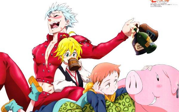 Anime The Seven Deadly Sins Meliodas King Ban Hawk HD Wallpaper | Background Image