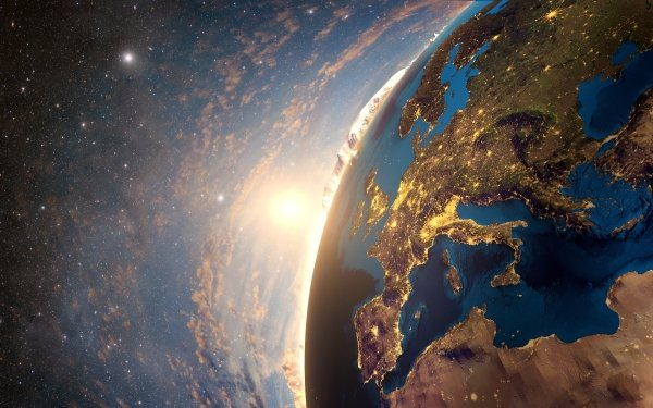 Earth From Space Europe HD Wallpaper | Background Image