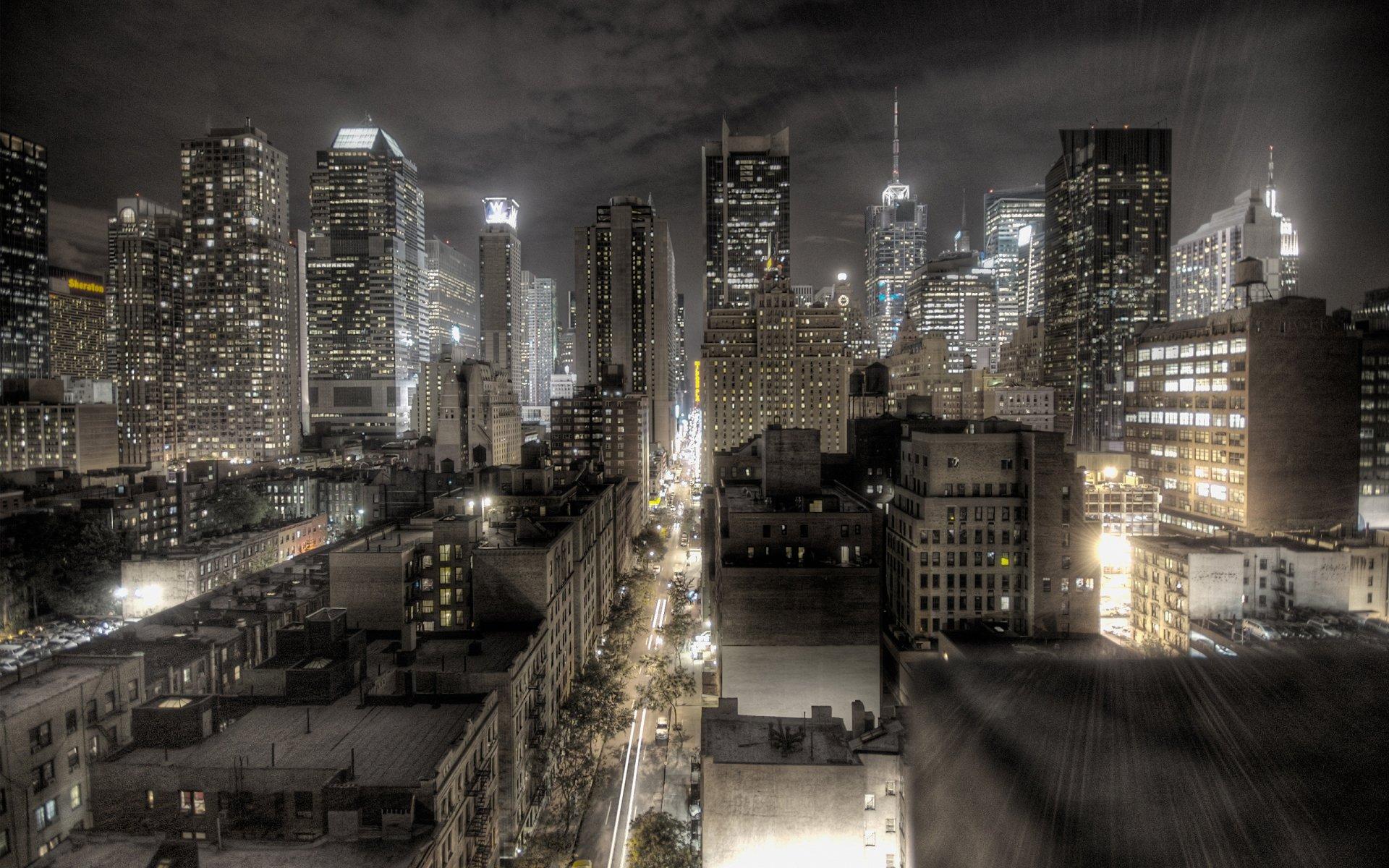 Man Made - New York  City Night Light Wallpaper