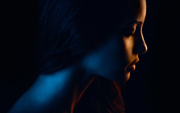 Women Face Dark Profile HD Wallpaper | Background Image
