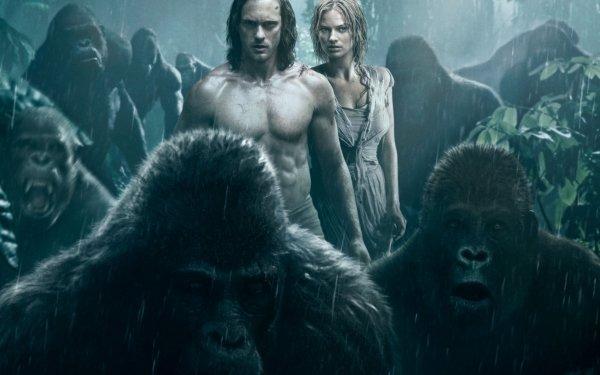 Movie The Legend of Tarzan Alexander Skarsgård Tarzan Margot Robbie Jane Porter HD Wallpaper   Background Image