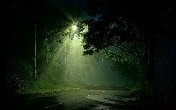 Hecho por el hombre Carretera Street Light Luz Fondo de pantalla HD | Fondo de Escritorio