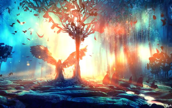 Fantasy Angel HD Wallpaper   Background Image