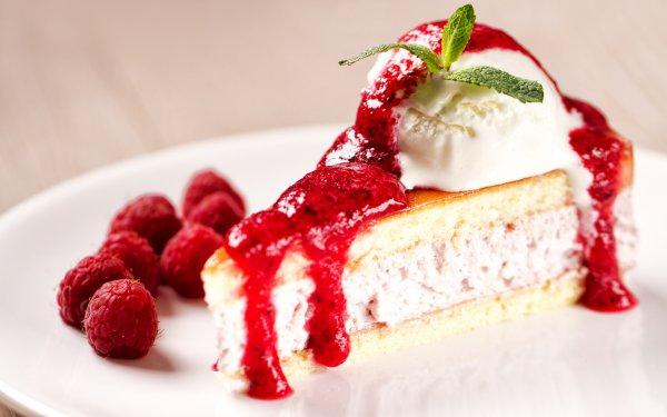 Food Dessert Cake Ice Cream Sweets Raspberry Jam HD Wallpaper | Background Image