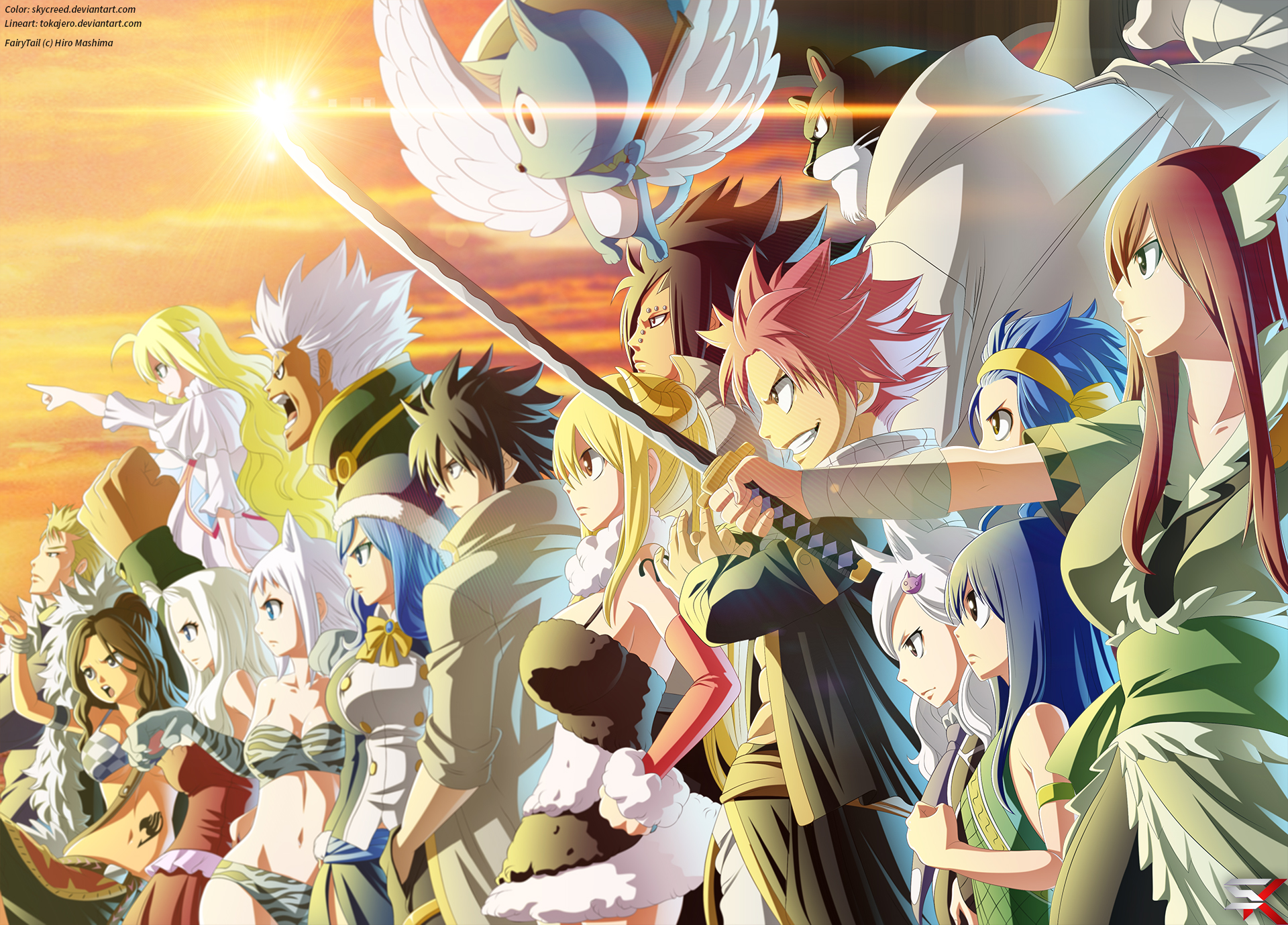 Fairy tail hd wallpaper background image 1920x1379 - Image de natsu fairy tail ...