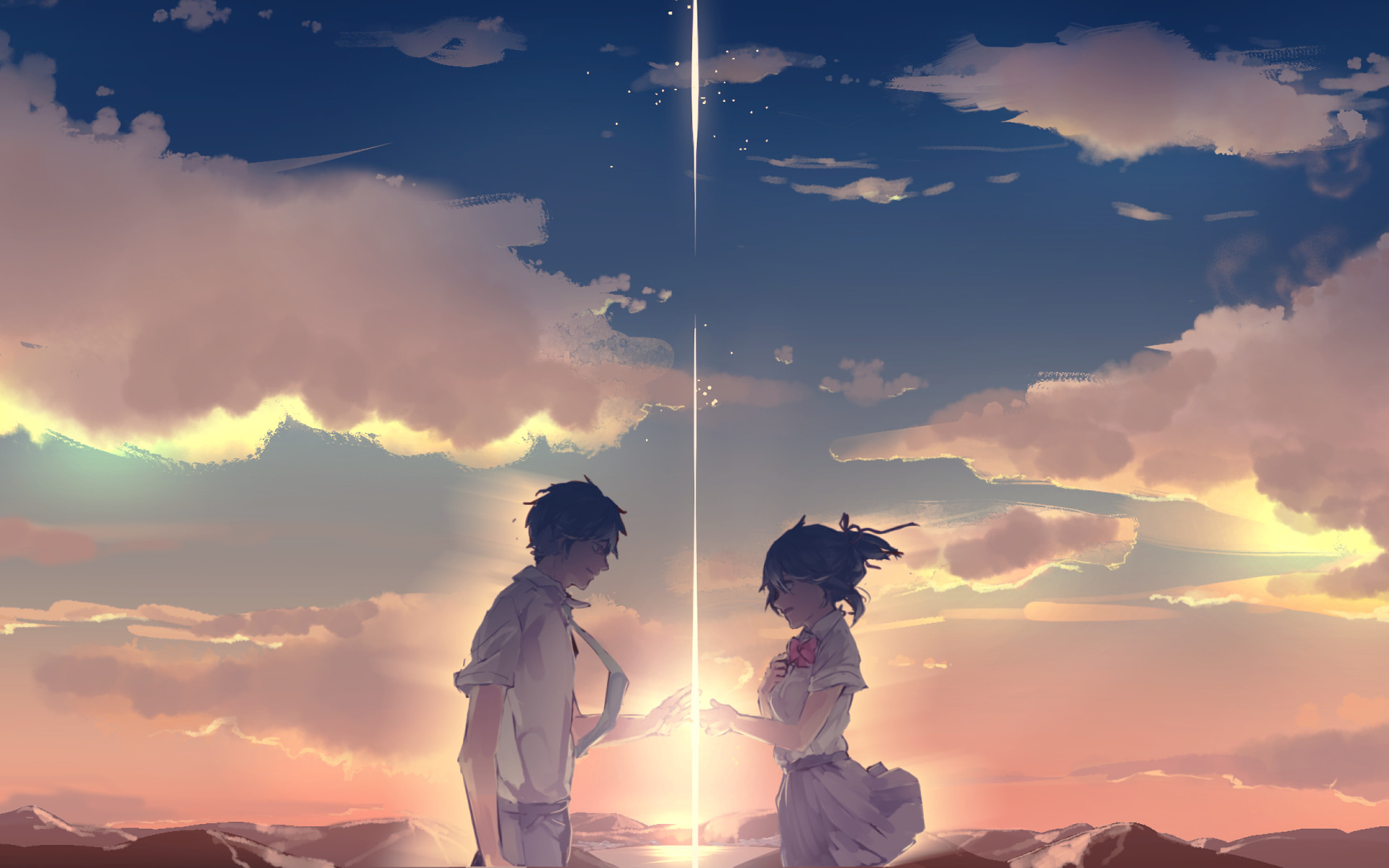 Taki and Mitsuha (Your Name) HD Wallpaper | Background ...