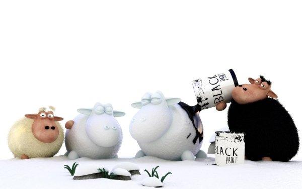 Animal CGI Sheep Black 3D HD Wallpaper   Background Image