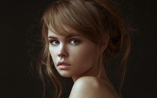 Kvinnor Anastasiya Scheglova Models Russia Woman Flicka Face Model Brunette Russian HD Wallpaper | Background Image