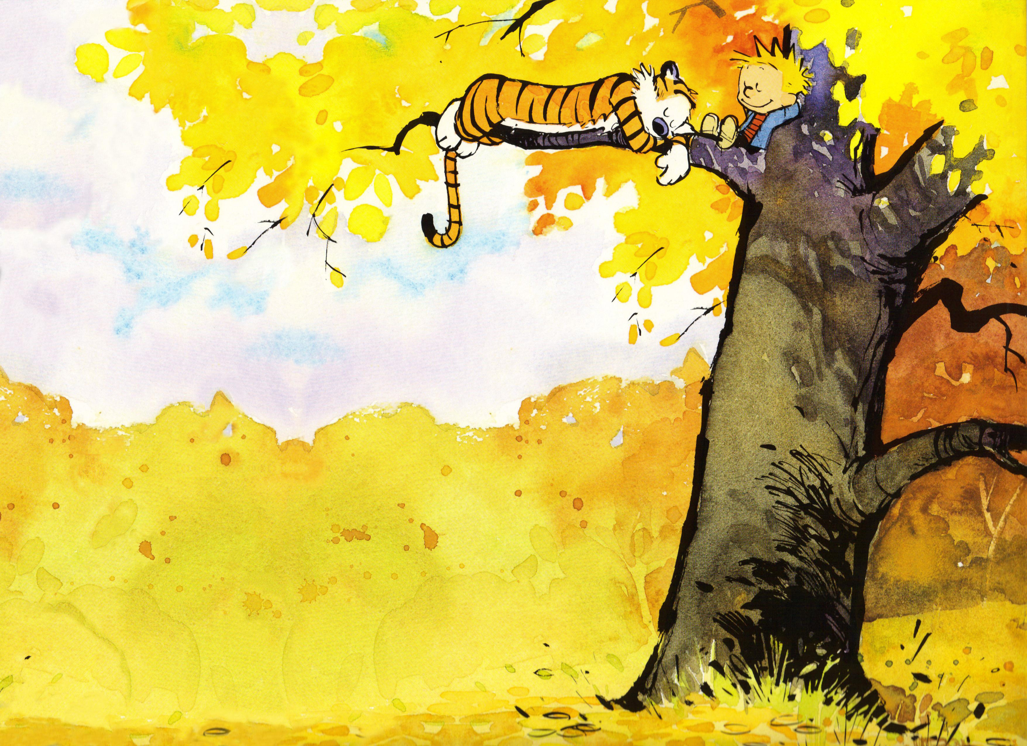 Cartoon - calvin and hobbes Wallpaper
