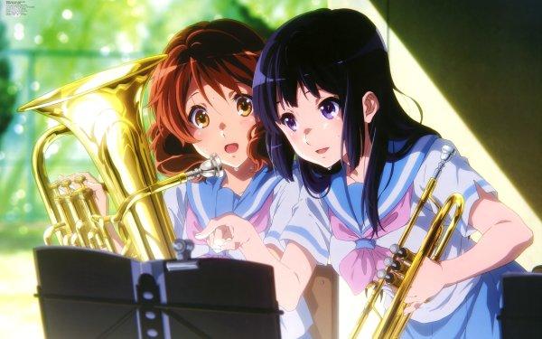 Anime Sound! Euphonium Kumiko Oumae Reina Kousaka HD Wallpaper | Background Image