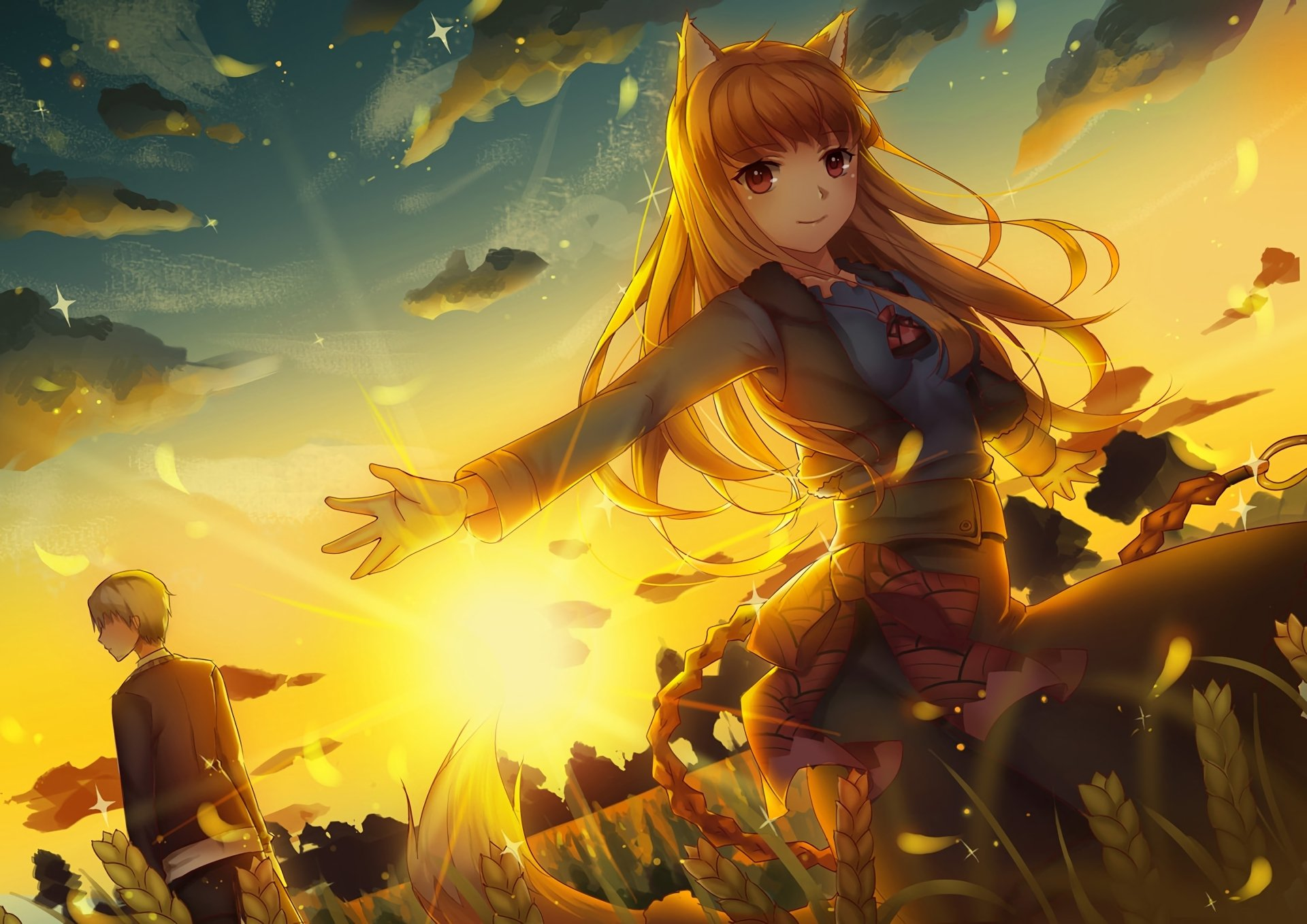 Anime - Spice and Wolf  Holo (Spice & Wolf) Kraft Lawrence Wallpaper