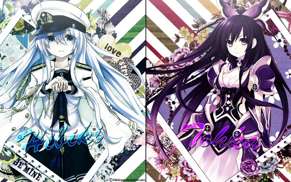 Anime Crossover Tohka Yatogami Hibiki Date A Live Kantai Collection HD Wallpaper   Background Image