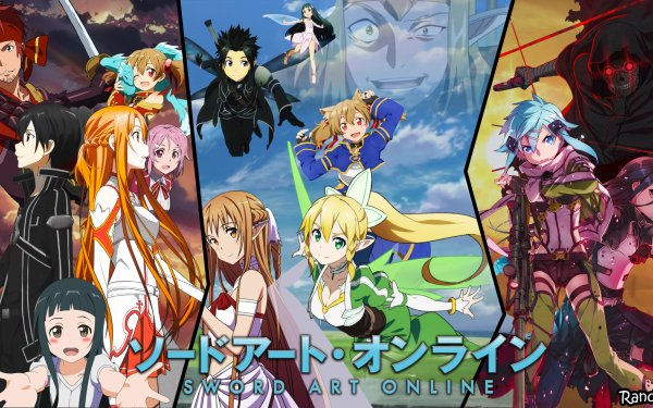 Anime Sword Art Online Kirito Yui Asuna Yuuki Silica Sinon Lisbeth Klein Pina Death Gun HD Wallpaper | Background Image