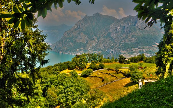 Earth Landscape Mountain Italy Lombardy Green Tree HD Wallpaper   Background Image