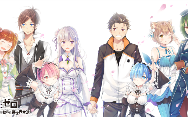 Anime Re:ZERO -Starting Life in Another World- Theresia van Astrea Wilhelm van Astrea Emilia Ram Subaru Natsuki Rem Crusch Karsten Felix Argyle HD Wallpaper | Background Image