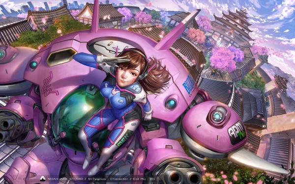 Video Game Overwatch D.Va HD Wallpaper | Background Image