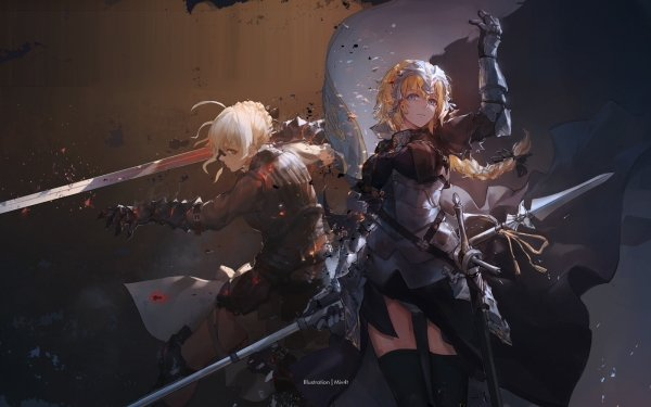 Anime Fate/Grand Order Fate Series Ruler Saber Alter Jeanne d'Arc HD Wallpaper | Background Image