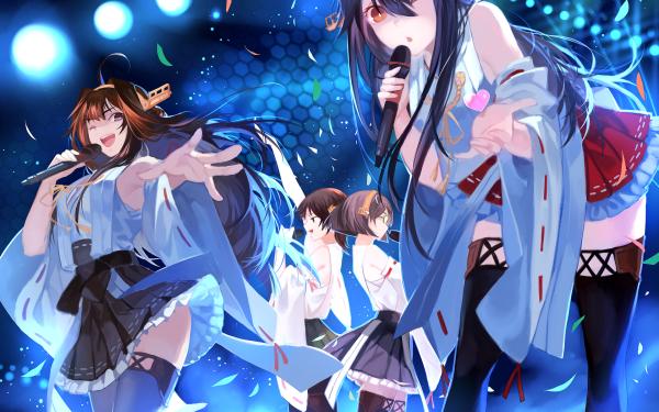 Anime Kantai Collection Kongou Hiei Kirishima Haruna HD Wallpaper | Background Image