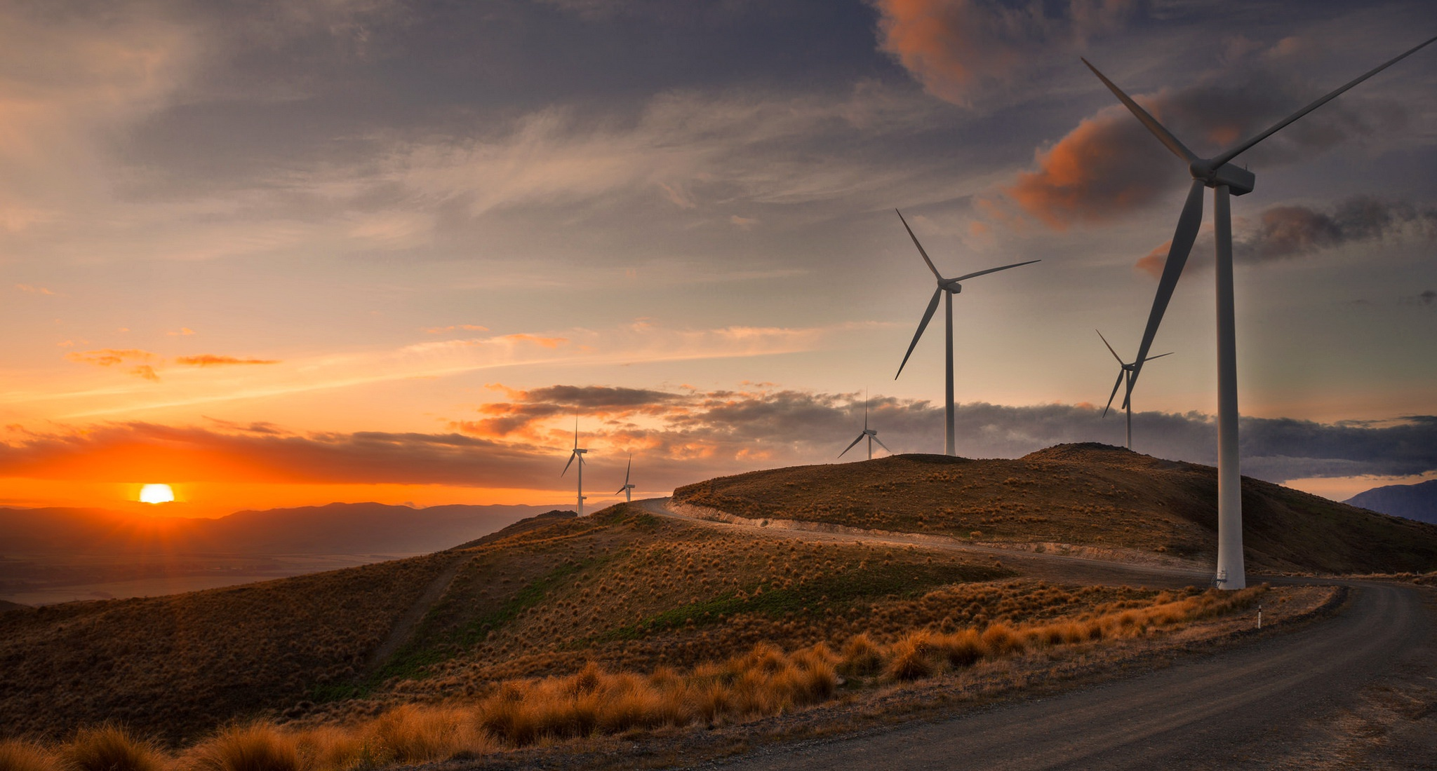 wind turbine hd wallpaper background image 2048x1100