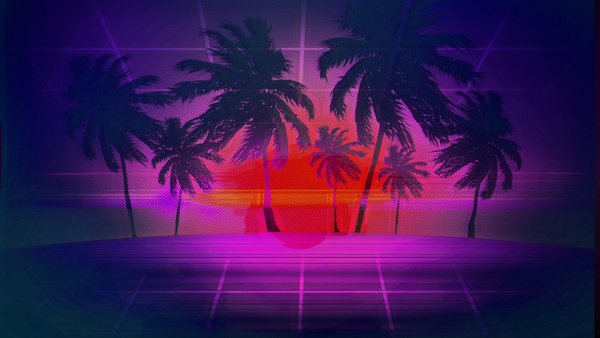 69 Retro Wave HD Wallpapers
