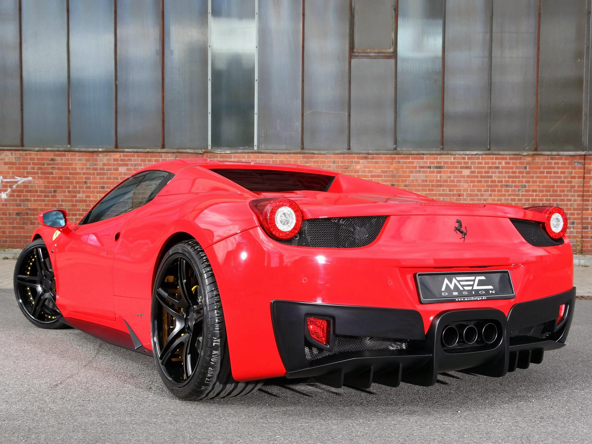 2014 MEC Design Ferrari 458 Spider Full HD Wallpaper And Background