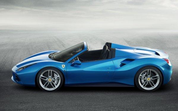 Vehicles Ferrari 488 Spider Ferrari Ferrari 488 Car Blue Car Sport Car HD Wallpaper | Background Image