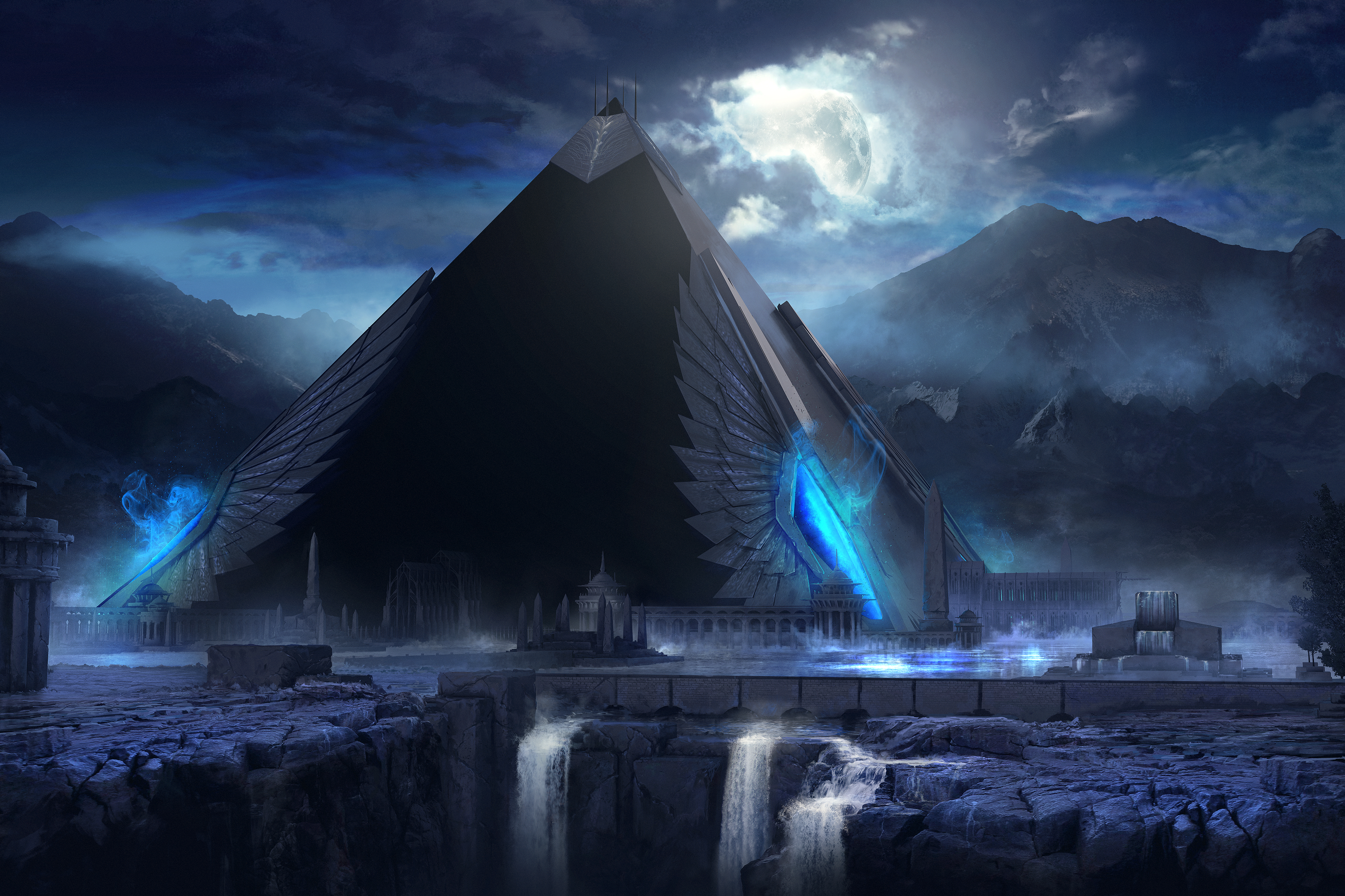 Pyramid full hd wallpaper and background image 3500x2333 for 3d wallpaper for home egypt