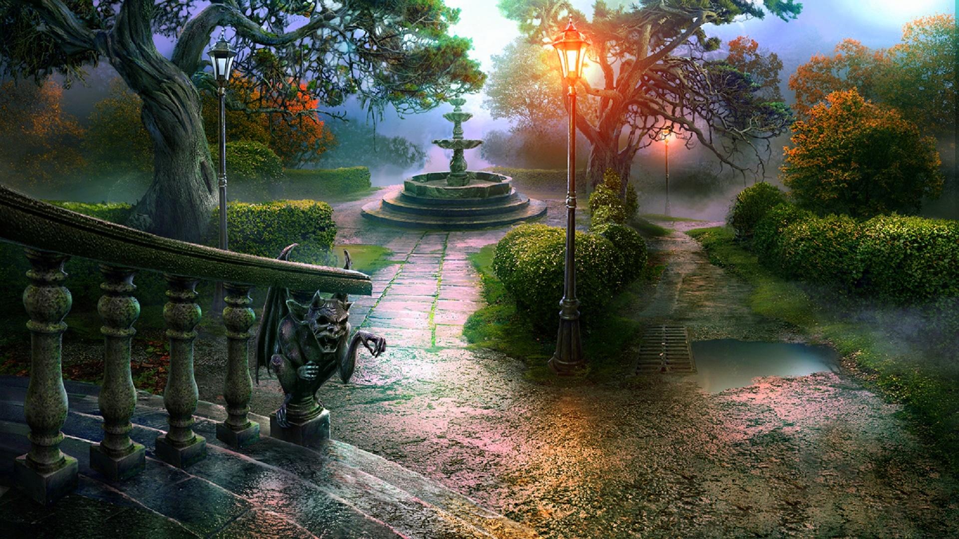 Autumn Fantasy Landscape HD Wallpaper | Background Image ...