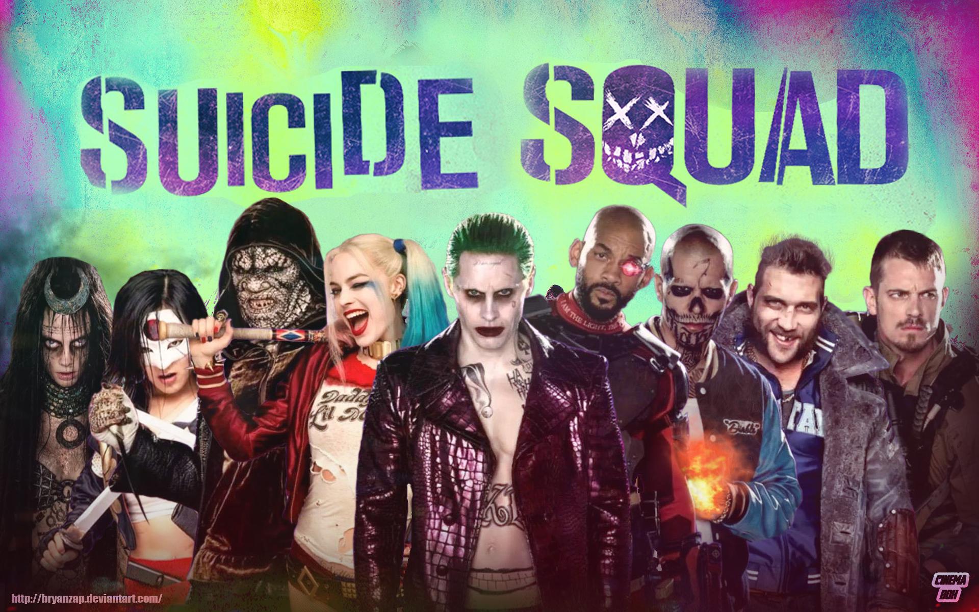 Suicide Squad Fond D 233 Cran Hd Arri 232 Re Plan 1920x1200