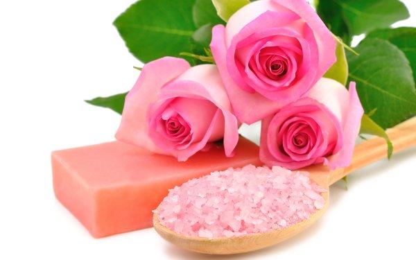 Man Made Spa Soap Flower Rose Pink Flower HD Wallpaper | Background Image
