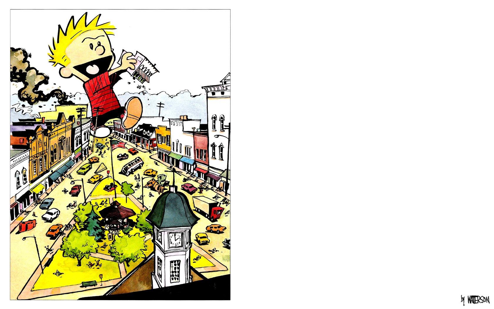 Comics - Calvin y Hobbes  Calvin (Calvin & Hobbes) Fondo de Pantalla
