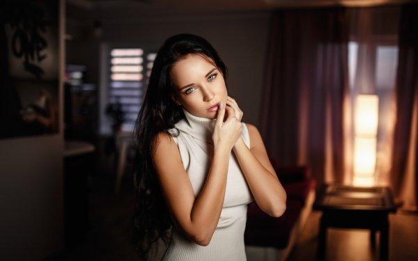 Women Angelina Petrova Models Ukraine Model Brunette HD Wallpaper | Background Image