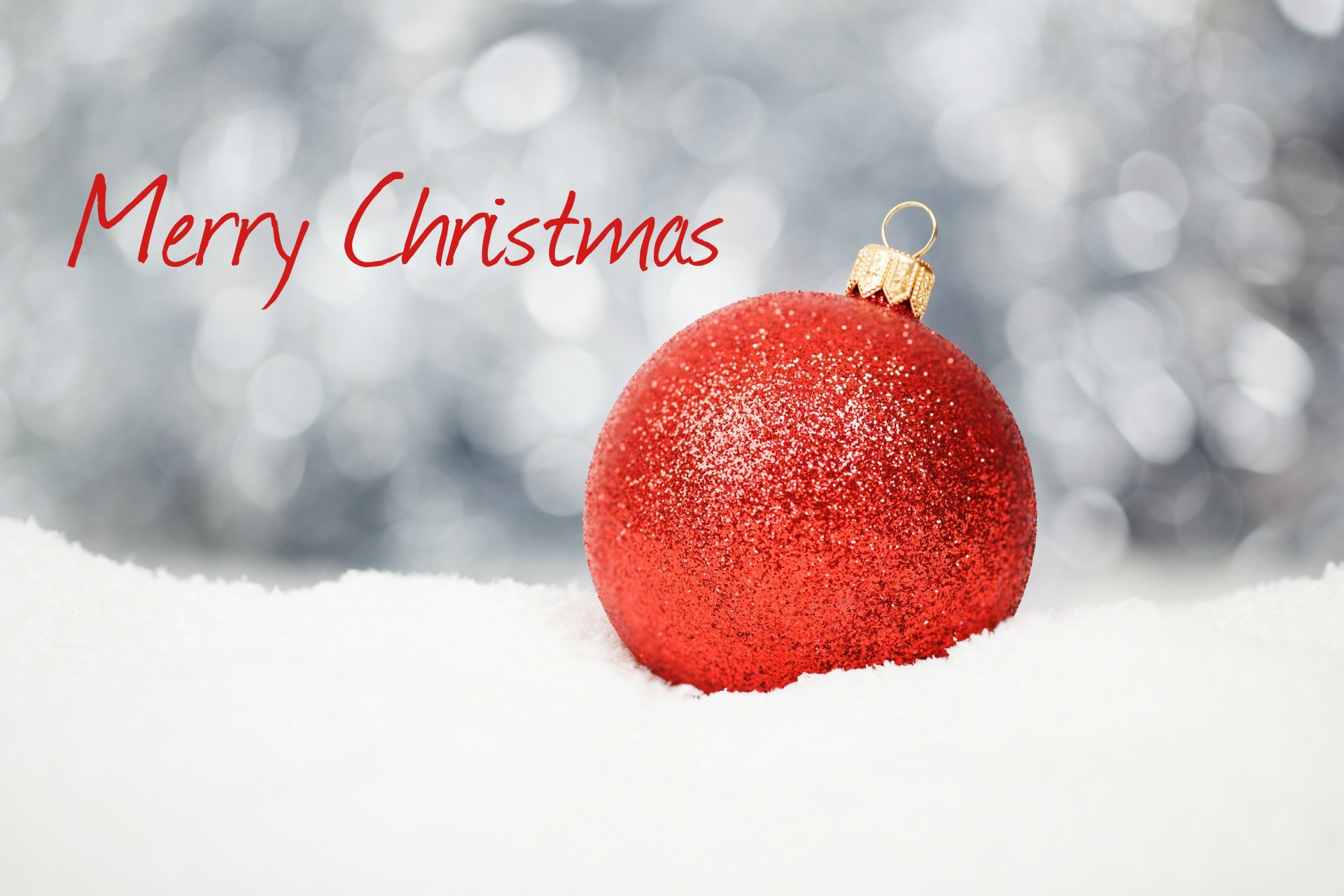 Holiday - Christmas  Merry Christmas Bauble Christmas Ornaments Bokeh Red White Wallpaper
