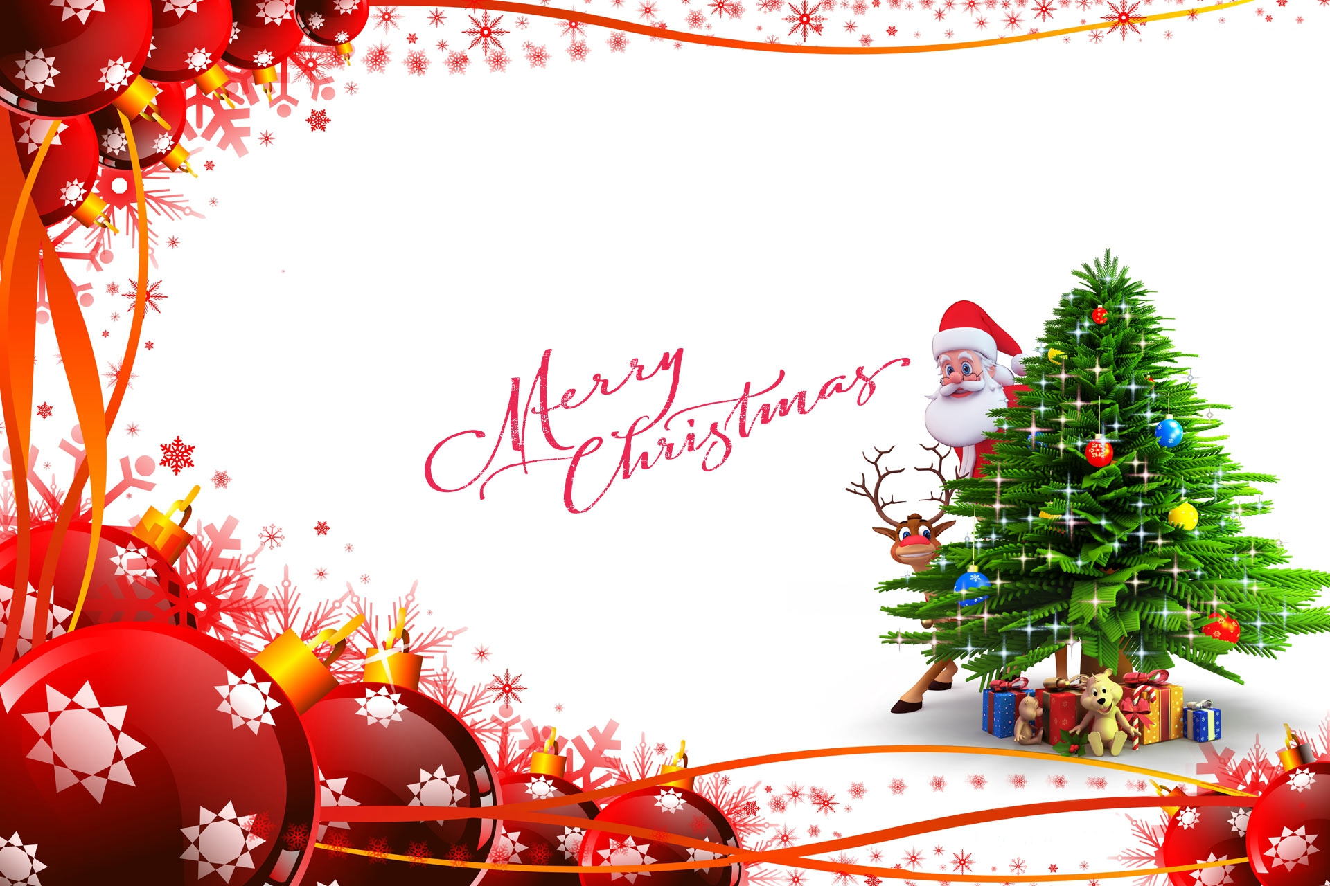 Merry Christmas Hd Wallpaper Background Image 1920x1280 Id