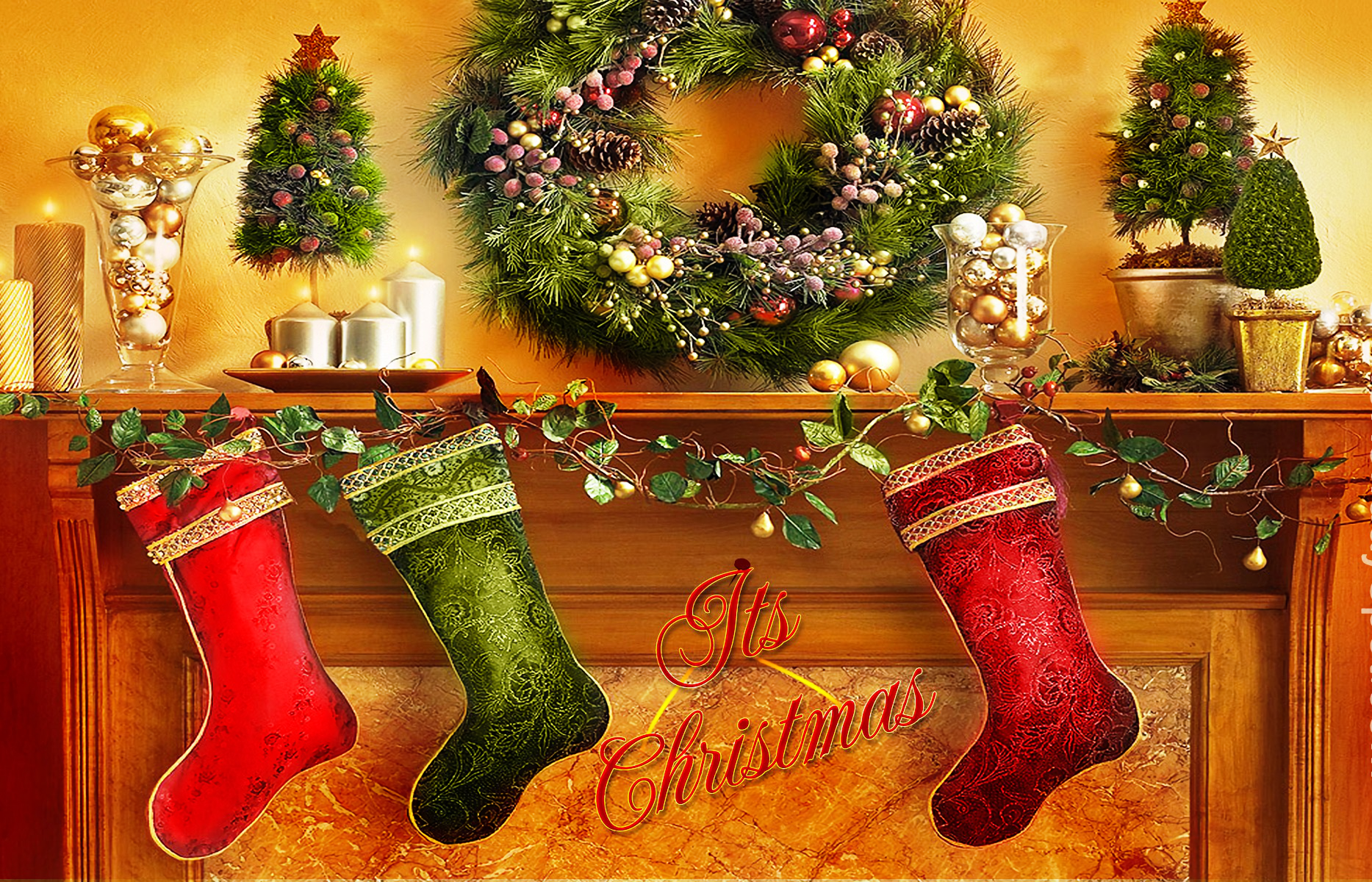 Christmas Stockings Wallpaper And Background Image