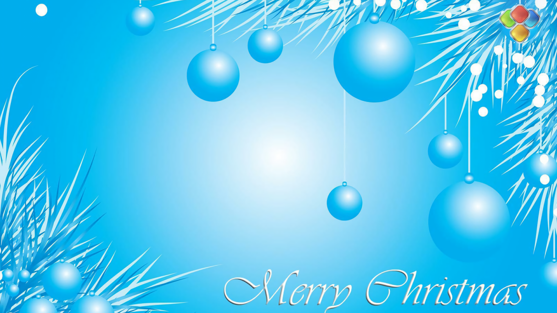 Holiday - Christmas  Holiday Christmas Ornaments Merry Christmas Blue Wallpaper