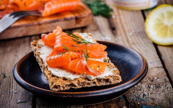 Alimento Pescado Salmon Toast Marisco Fondo de pantalla HD | Fondo de Escritorio