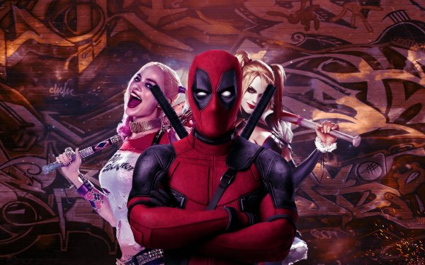 Movie Crossover Deadpool Suicide Squad Harley Quinn HD Wallpaper | Background Image